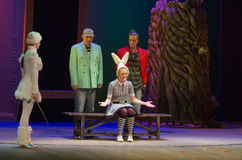 Save Snow White. DNIPRO, UKRAINE - DECEMBER 29, 2016: Save Snow White performed by members of the Dnipro State Drama Theatre stock images