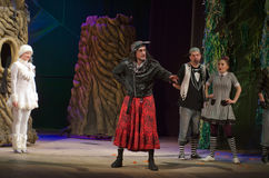 Save Snow White. DNIPRO, UKRAINE - DECEMBER 29, 2016: Save Snow White performed by members of the Dnipro State Drama Theatre royalty free stock photography