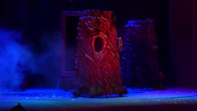 Save Snow White. DNIPRO, UKRAINE - JANUARY 9, 2017: Save Snow White performed by members of the Dnipro State Drama Theatre stock video footage
