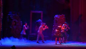 Save Snow White. DNIPRO, UKRAINE - JANUARY 9, 2017: Save Snow White performed by members of the Dnipro State Drama Theatre stock video