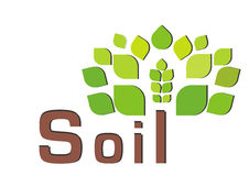 Save soil pollution royalty free stock photo