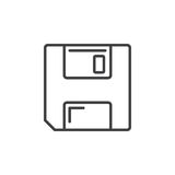 Save symbol. floppy disk line icon Stock Images