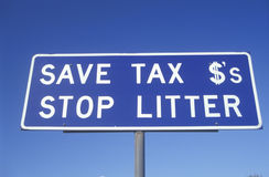 Save Tax $'s sign Stock Photography