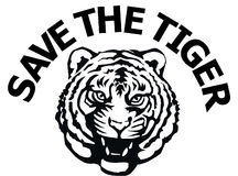 Save the tiger Royalty Free Stock Image