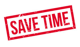 Save time rubber stamp Stock Images