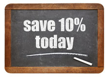 Save 10% today offer on blackboard Stock Images