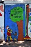 Save tree - save birds Royalty Free Stock Photo