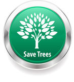 Save tree and save nature badge background Stock Image
