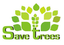 Save trees Stock Photography