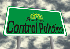 Save trees control polluation Stock Photo