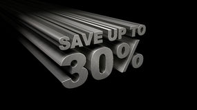 SAVE UP TO 30% TOP VIEW Stock Photography