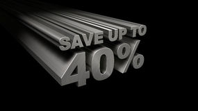 SAVE UP TO 40% TOP VIEW Stock Photos