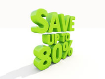 Save up to 80% Stock Image