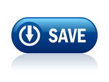 Save vector button Stock Photos