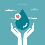 Save water background Stock Photo