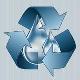 Save water, blue water drop, water saving Stock Photos