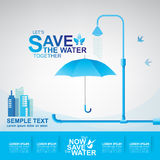 Save The Water Concept Royalty Free Stock Photography