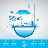 Save The Water Concept Stock Photography