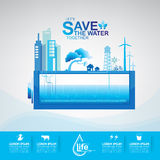 Save The Water Concept Stock Images