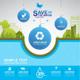 Save The Water Concept Royalty Free Stock Image