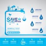Save The Water Concept Stock Photos