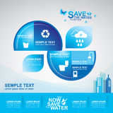 Save The Water Concept Royalty Free Stock Images