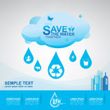 Save The Water Concept Royalty Free Stock Photo