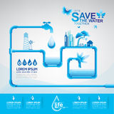Save The Water Concept Stock Image