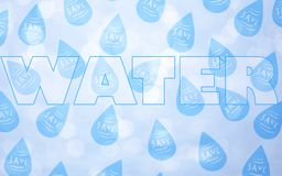 Save water concept stock image