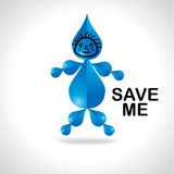 Save water concept Royalty Free Stock Photo