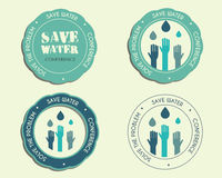Save water conference logo and badge templates Stock Photo