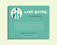 Save water conference poster invitation template Stock Photography