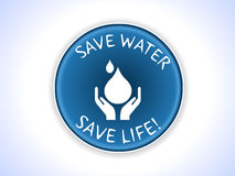 Save Water badge and vector design concept. Created badge on save water concept in vector format royalty free illustration