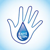 Save the water Royalty Free Stock Image