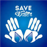 Save the water Royalty Free Stock Photography