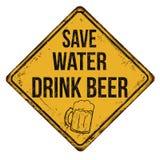 Save Water Drink Beer vintage rusty metal sign Royalty Free Stock Photos