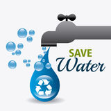 Save water ecology Stock Photos