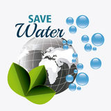 Save water ecology Stock Photo