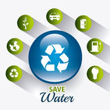 Save water ecology Royalty Free Stock Photo