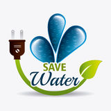 Save water ecology Stock Image