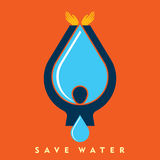 Save water with hands  Royalty Free Stock Photos