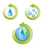 Save Water Icons Vector Illustration Royalty Free Stock Image