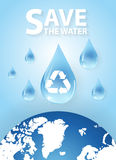 Save Water is Life.Concept of environmental protection Royalty Free Stock Photos