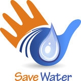 Save water logo Royalty Free Stock Photography