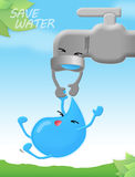 Save water. Movement to save water poster stock illustration