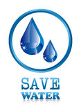 Save water stock illustration