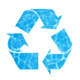 Save water, recycle symbol Royalty Free Stock Images