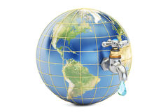 Save water, save earth concept. 3D rendering Stock Photo