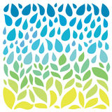 Save water - save life. Hand drawn drops and green Stock Images
