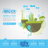 Save The Water Vector Concept Start Saving. Stock Photo